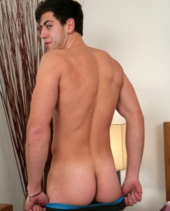 Englishlads.com: Muscular Young Kick Boxer Doug Shows off his Hairy Body & Massive Uncut Tool!