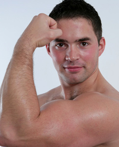 Englishlads.com: PT Jerry is back after 5 years - Big muscles, ultra hairy chest and a very hard uncut one!