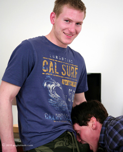 Englishlads.com: Str8 Blond Hunk Liam Slams into Str8 lad Anthony - How turned on are these str8 boys!