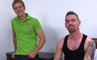 Tom Nash & Hayden Harris Str8 Fitness Trainer Hayden Slams into Tom's hole!