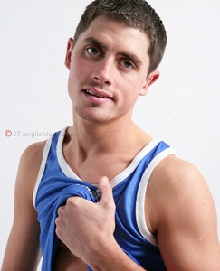 Englishlads.com: Str8 Jake plays with a toy
