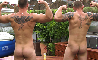 Bailey Morgan & Andy Lee Str8 Mates Bailey & Andy in an Uncut Muscle Showdown!