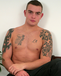 Englishlads.com: Straight Muscular Young Hunk Andy In Some Dildo Fun!