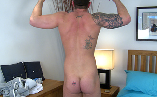 James Hollister Straight & Tall Hunk James Shows off His Hairy Body
