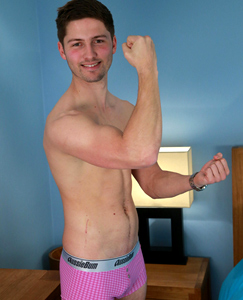 Englishlads.com: Straight Young Footballer & Fitness Fanatic John Shows off His Muscles & Hard Uncut Cock!