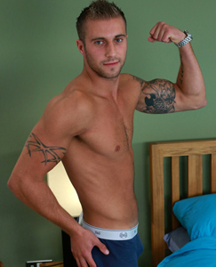 Englishlads.com: Tall & Straight Young Muscular Jake Shows off his Impressive Uncut Cock & A Light Fuzz!