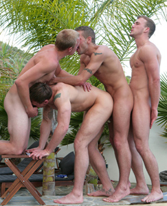 Englishlads.com: Three Straight Lads & Dan in Chain Fuck & Chris gets his First Fucking, By Tyler then Rich!