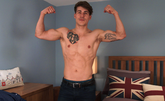 Englishlads.com: Young Parkour Expert Paolo Shows us his Body & Big Uncut Cock!