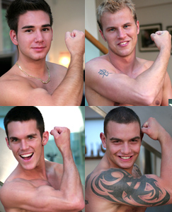 Englishlads.com: Four Straight Hunky Men - In a Horny Strip and Wanking Session!