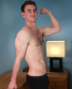 Englishlads.com: Hairy Young Rugby Player Paul Shows Off His Muscles & Lovely Long & Meaty Uncut Cock!