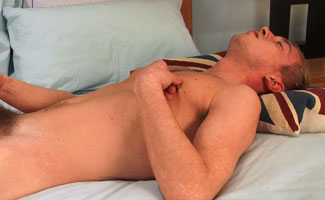 Young Tall Blond Lad Howard Saracen Shows Us His Big 8 Inch Uncut Cock!