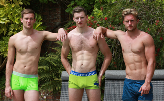 Englishlads.com: Hunky Straight Lad Joel gets his 1st Man Blow & Aaron Joins in Getting Sucked by Straight Lad Andrew!