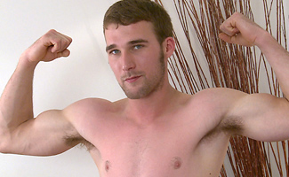 Englishlads.com: Identical Twin Jon Pumps up his Body & Shows off his Massive 9 Inch Uncut Cock!