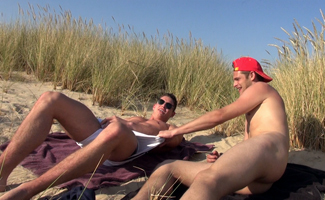 Englishlads.com: Jack and Damian having a Cheeky Play in the Sand Dunes!