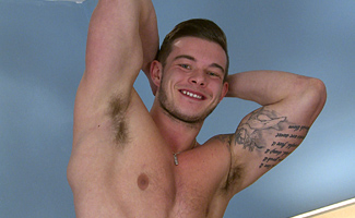 Muscular Straight Hunk Jake Shows off his Thick Cock and Shoots a Big Load!