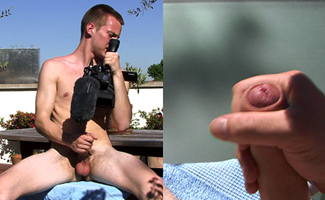 Tall, Blond, Defined Str8 Lad James - Wanking in the Sunshine