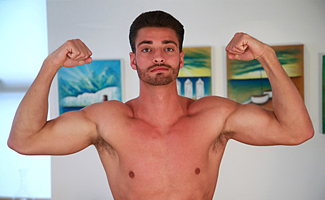Bonus Video of James's Photo Shoot - Tall & Ripped Footballer Cums Loads!