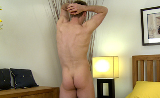 Bonus Video of Jamie's Photo Shoot - Cheeky Chap with an Impressively Large Cock!