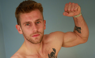 Young Pup Jenson Shows us his Muscles & Big Uncut Throbbing Erection!