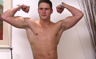 Str8 hunk Josh  - buff body...large when soft and it gets very, very hard!