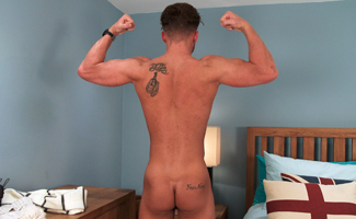 Sexy Straight Lad Justin Shows off His Lean Body and Massive Cock, Wanks and Cums Loads!