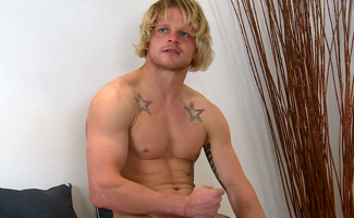 Bonus Video of Kian's Photo Shoot - Welsh Rugby Hunk Shows His Big Uncut Cock!