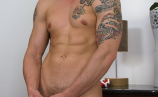 Bonus Video - Hunky Muscular Pup Lance's Video of his Dildo Photo Shoot - Long Edit!