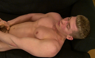 Straight Lad Leo Shows his Very Hard Uncut Cock & Lets his Mate Have a Play!