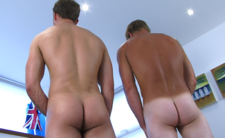 Straight Lad Liam James returns with Rich - Two Huge Cocks!