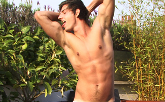 Bonus Video of Liam's Photo Shoot - One of our Most Popular Str8 Hunks Playing in the Sunshine
