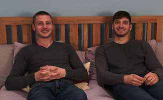 Straight Mates Luca and Bailey Wank Off Each Other's Rock Hard Uncut Cocks!