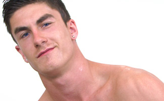 Englishlads.com: Muscular Straight Young Pup Josh Peter's gets his Big Uncut Cock Massaged!