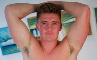 Englishlads.com: Muscular Young Footballer Shows us his Hefty & Ultra Long Uncut Cock!