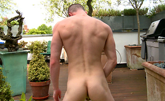 Young Straight Pup Nate Strips off & Shows off His Very Erect Uncut Cock & Hair Free Hole!