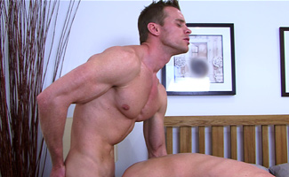 Str8 lad Anthony takes his first cock and pushes hard onto Neil
