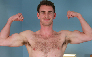 Hairy Young Rugby Player Paul Shows Off His Muscles & Long Meaty Uncut Cock!