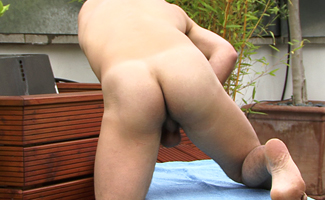 BONUS VIDEO - Hairy Straight Hunk Phil's Video of his First Photo Shoot