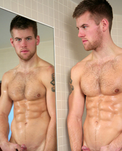 Englishlads.com: Rugby Stud Jon Saunders Drops in For Some Water Sports & to show off That Uncut Rocket!