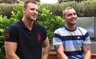 Englishlads.com: Str8 Mates Bailey & Andy in an Uncut Muscle Showdown!