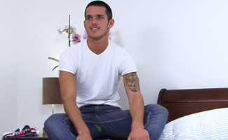Englishlads.com: Straight Footie Ace Jay Shoves in a Toy & Dumps Massive Load