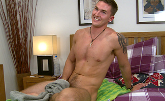 Englishlads.com: Straight, Hairy Personal Trainer Leo Gives in & Gets his Big Meaty Cock Manhandled for his 1st Time!