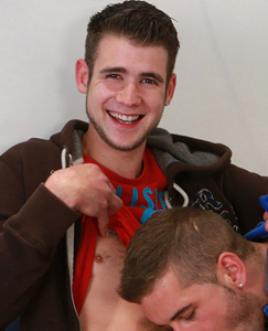 Englishlads.com: Straight Hairy Young Uncut Pup Kevin Gets his 1st Man Blow Job & Enjoying it Wanks Dan!