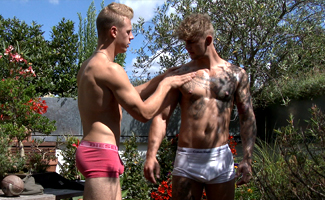 Englishlads.com: Straight Hunks Dan and Danny Getting Their 1st Man Wank and Jizz Goes Everywhere!