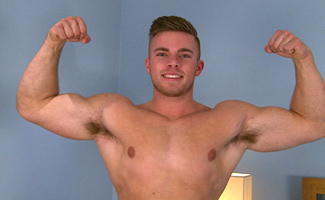 Englishlads.com: Straight Lad Jake Shows Off His Hot Muscular Body and Wanks His Uncut Cock!
