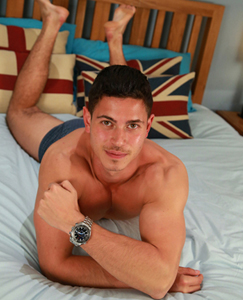 Englishlads.com: Straight Young Athlete Connor Pumps his Muscles & Pumps his Hole for the1st Time!