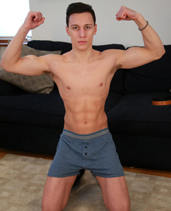 Englishlads.com: Straight Young Footballer Jason Shows off His Toned Body & Rock Hard Uncut Big Cock!