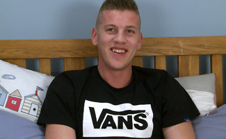 Englishlads.com: Super Horny Ash Wanks His 8-inch Cock Hard and Fast and Cums Loads!