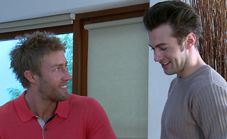 Englishlads.com: Tall & Athletic Young Straight Hunk Josh gets his First Man Blow Job - and a Good Rimming!