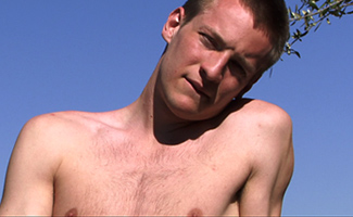 Englishlads.com: Tall, Blond, Defined Str8 Lad James - Wanking in the Sunshine