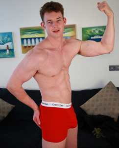Englishlads.com: Tall & Muscular New Lad Tom Shows us his Massive 9 Inch Uncut Cock!